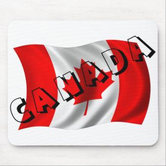 Texto de CANADÁ en bandera canadiense Tapetes De Ratones