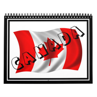 Texto de CANADÁ en bandera canadiense Calendario De Pared