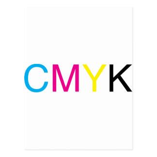 Texto de CMYK Postal