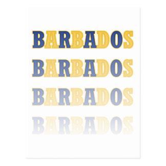 Texto de descoloramiento de Barbados Postal