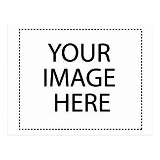 Texto de encargo o imagen del diseño en blanco tarjetas postales
