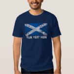 Texto de Escocia + Bandera del escocés del Grunge Camisas
