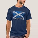 Texto de Escocia + Bandera del escocés del Grunge Playera