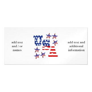 Texto de la bandera americana de los E.E.U.U. con Invitaciones Magnéticas
