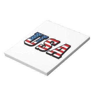 Texto de la bandera de los E.E.U.U. Libretas Para Notas