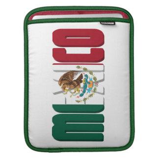 Texto de la bandera de México Fundas Para iPads