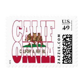 Texto de la bandera del estado de California Franqueo