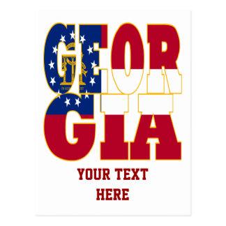 Texto de la bandera del estado de Georgia Postales