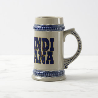 Texto de la bandera del estado de Indiana Jarra De Cerveza