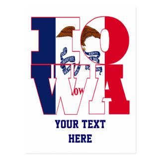 Texto de la bandera del estado de Iowa Postal