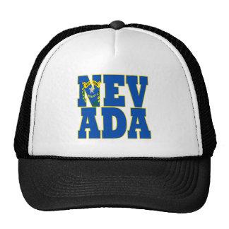 Texto de la bandera del estado de Nevada Gorros Bordados
