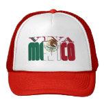 Texto de la bandera mexicana de VIVA MEJICO Gorras
