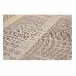Texto de la biblia escultura fotografica