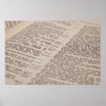 Texto de la biblia impresiones