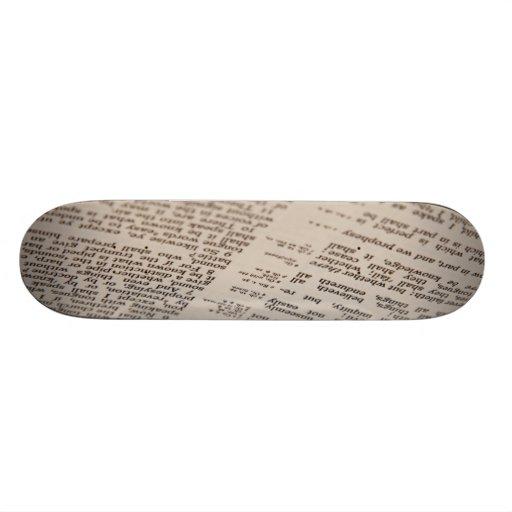 Texto de la biblia patineta personalizada