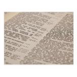 Texto de la biblia tarjetas postales