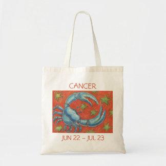 Texto de la bolsa de asas del cáncer del zodiaco
