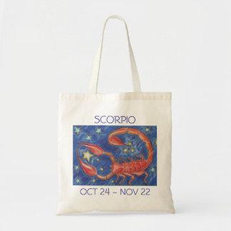 Texto de la bolsa de asas del escorpión del zodiac