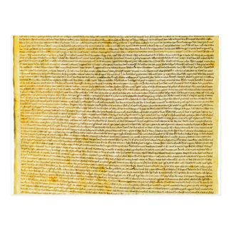 Texto de la Carta Magna Tarjeta Postal