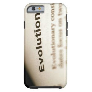 Texto de la evolución en la página funda de iPhone 6 tough