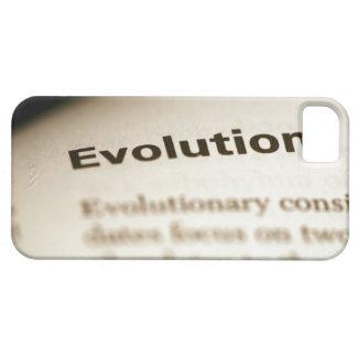 Texto de la evolución en la página iPhone 5 funda