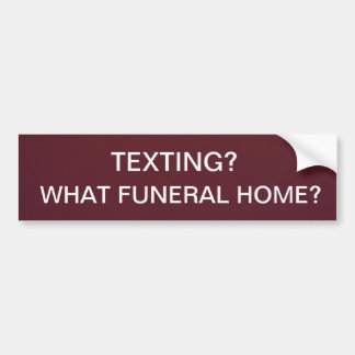 Texto de la funeraria pegatina para auto