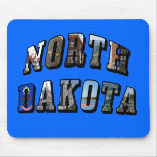 Texto de la imagen de Dakota del Norte Alfombrillas De Ratón
