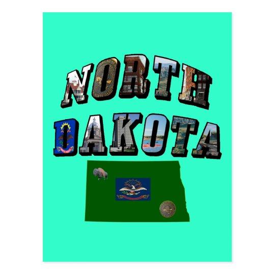 Texto de la imagen de Dakota del Norte Tarjetas Postales