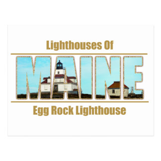 Texto de la imagen del faro de la roca del huevo d tarjetas postales