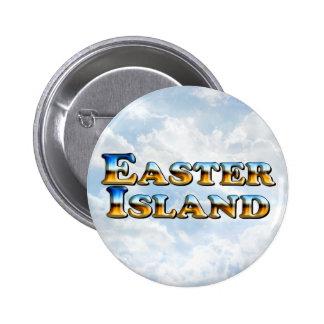 Texto de la isla de pascua - botón redondo pins