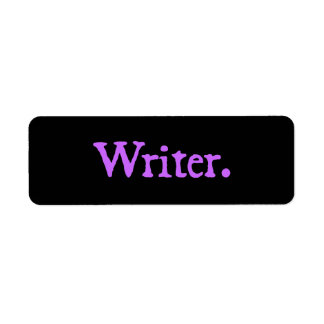 Texto de la lavanda del escritor etiqueta de remite