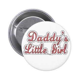 Texto de la niña del papá pin redondo 5 cm