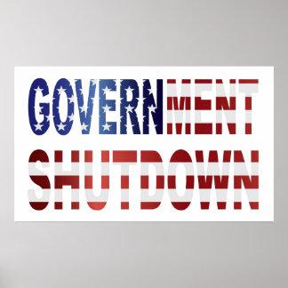 Texto de la parada del gobierno con el poster de l