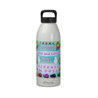 Texto de la sabiduría: Amor humano del cuidado n Botellas De Agua Reutilizables