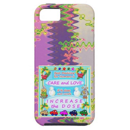 Texto de la sabiduría: Amor humano del cuidado n iPhone 5 Case-Mate Carcasa