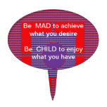 Texto de la sabiduría:  El niño enojado feliz goza Figuras Para Tartas
