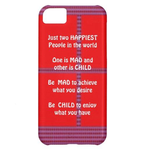 Texto de la sabiduría: El niño enojado feliz goza Funda Para iPhone 5C