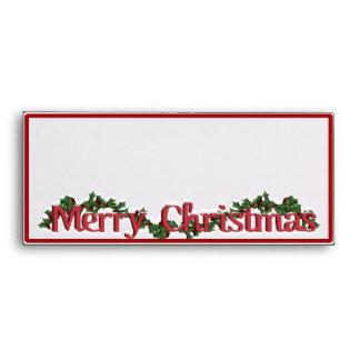 Texto de las Felices Navidad con la guirnalda y la