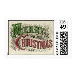 Texto de las Felices Navidad del vintage Sellos