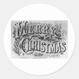 Texto de las Felices Navidad Pegatina Redonda