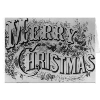 Texto de las Felices Navidad Tarjeta De Felicitación