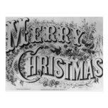 Texto de las Felices Navidad Tarjeta Postal