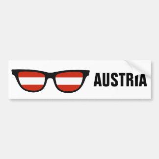 Texto de las sombras austríacas y bumpersticker de pegatina para auto