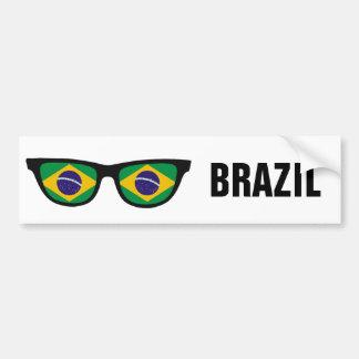 Texto de las sombras brasileñas y bumpersticker de pegatina para auto