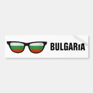 Texto de las sombras búlgaras y bumpersticker de pegatina para auto