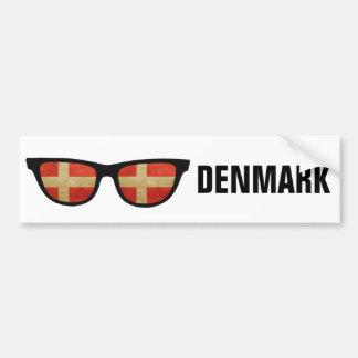 Texto de las sombras danesas y bumpersticker de pegatina para auto