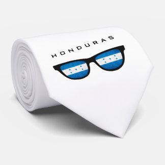 Texto de las sombras de Honduras y lazo de encargo Corbatas Personalizadas