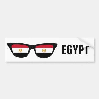 Texto de las sombras egipcias y bumpersticker de pegatina para auto