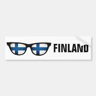 Texto de las sombras finlandesas y bumpersticker pegatina para auto