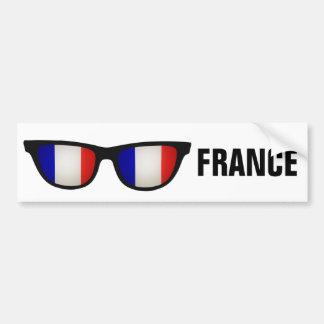 Texto de las sombras francesas y bumpersticker de pegatina para auto